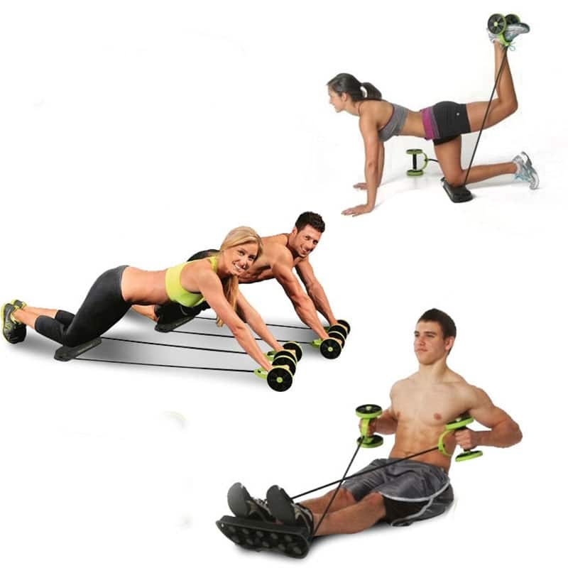 Ab Roller - Home Gym - Ab Wheel with Resistance Bands 4