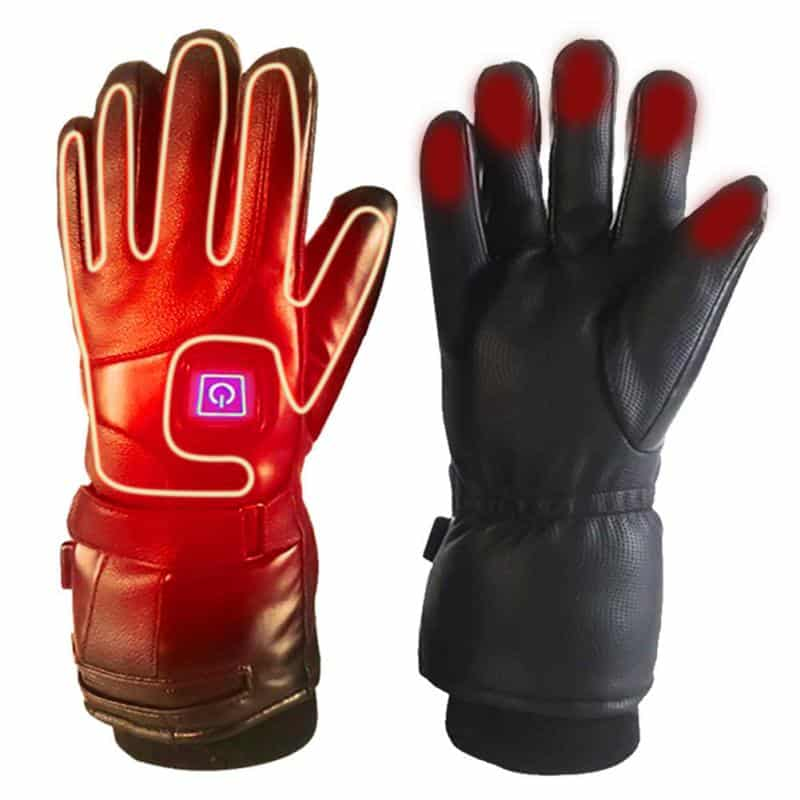 Rechargeable Electric Warm Heated Gloves Battery Powered Climbing skiing camping heated gloves Winter outdoor warms men wemen 2