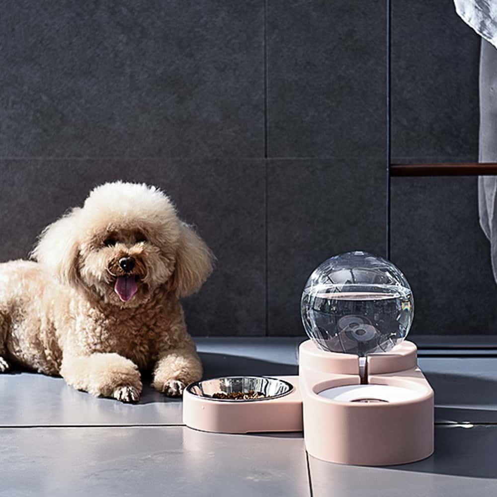 1.8L New Bubble Pet Bowls Food Automatic Feeder Fountain Water Drinking for Cat Dog Kitten Feeding Container Pet Supplies 19