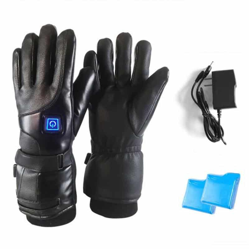 Rechargeable Electric Warm Heated Gloves Battery Powered Climbing skiing camping heated gloves Winter outdoor warms men wemen 7